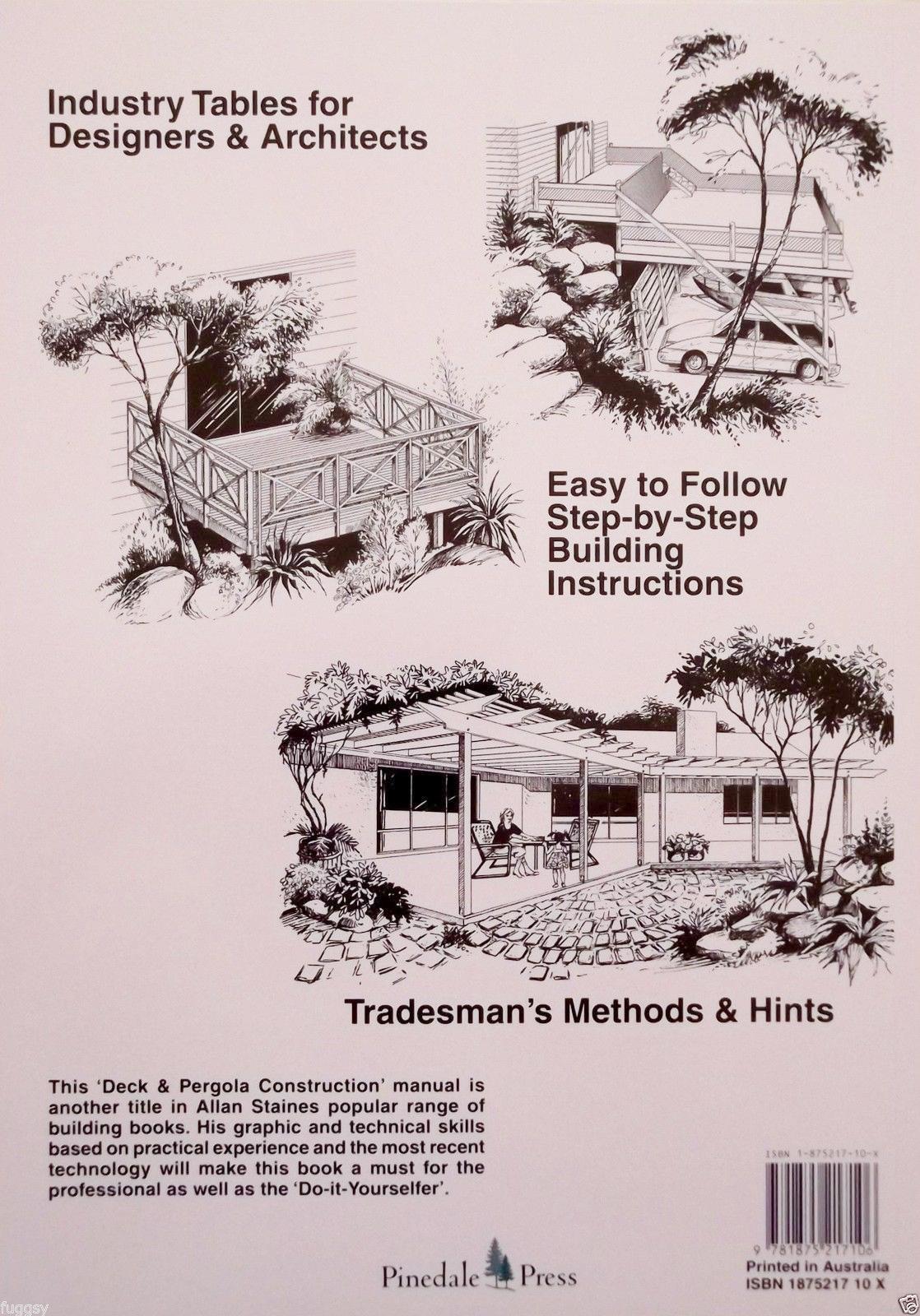 Australian decks pergolas construction manual allan staines solutioingenieria Gallery